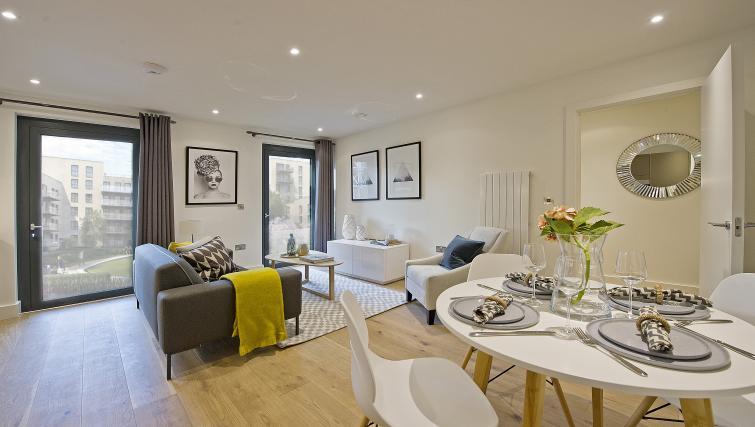 Living area at Wembley Apartments - Citybase Apartments