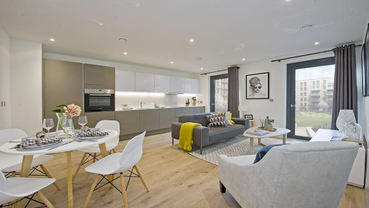 Open-plan living area at Wembley Apartments - Citybase Apartments