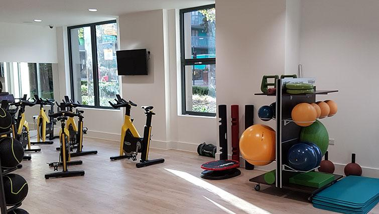 Fitness centre at Wembley Apartments - Citybase Apartments