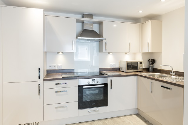 Kitchen facilities at Central Gate Apartments - Citybase Apartments