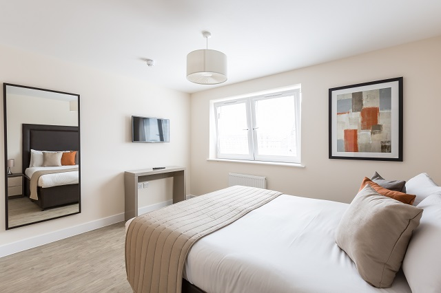 Bedroom at Central Gate Apartments - Citybase Apartments