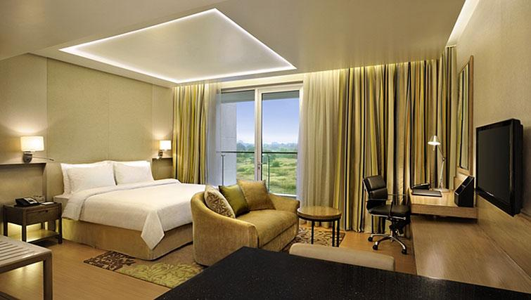 Bright living area at DoubleTree Suites by Hilton Bangalore - Citybase Apartments