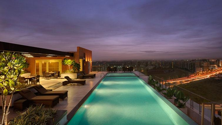 Swimming pool at DoubleTree Suites by Hilton Bangalore - Citybase Apartments