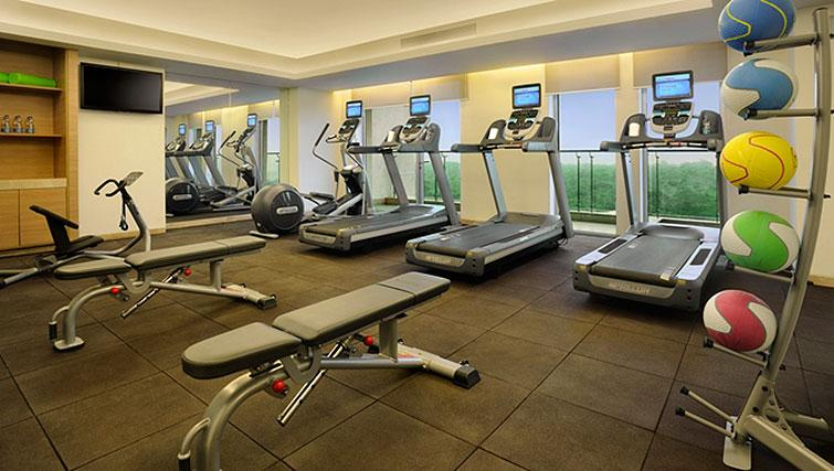 Fitness centre at DoubleTree Suites by Hilton Bangalore - Citybase Apartments