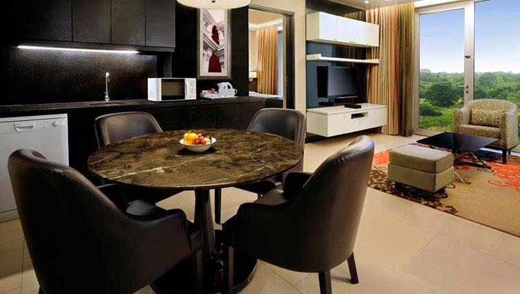 Kitchen at DoubleTree Suites by Hilton Bangalore - Citybase Apartments