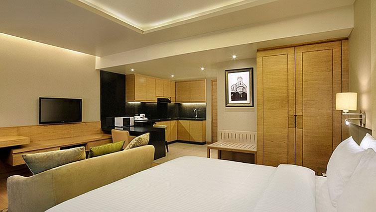 Open plan living area at DoubleTree Suites by Hilton Bangalore - Citybase Apartments