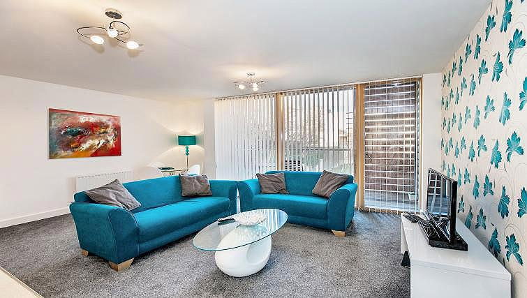 Living area at Vizion Milton Keynes Apartments - Citybase Apartments
