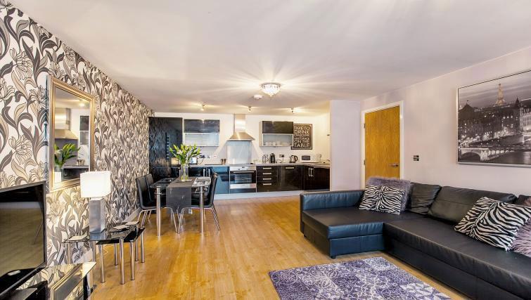 Stylish living area at Vizion Milton Keynes Apartments - Citybase Apartments