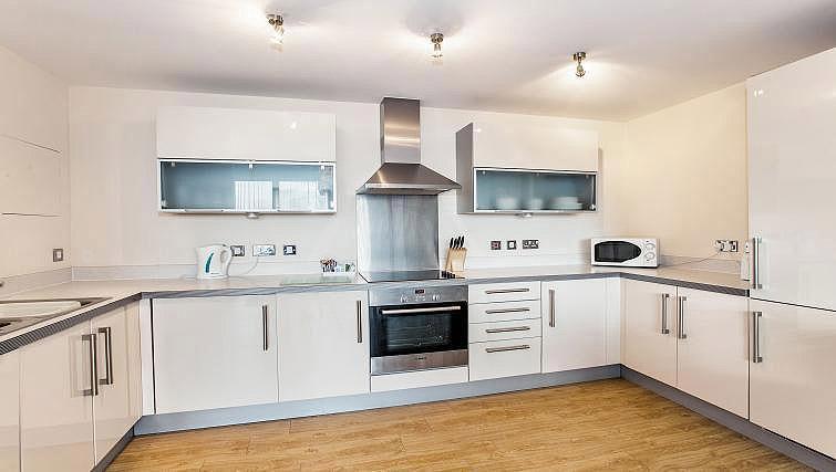 Equipped kitchen at Vizion Milton Keynes Apartments - Citybase Apartments
