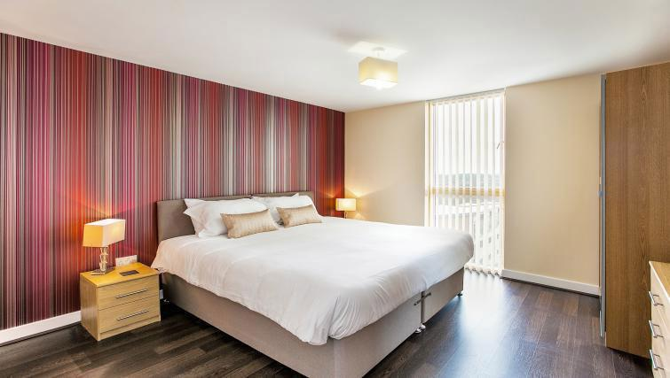 Double bedroom at Vizion Milton Keynes Apartments - Citybase Apartments