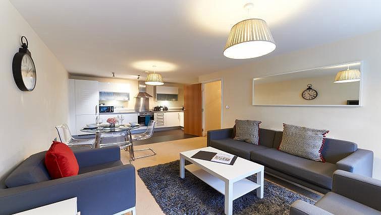 Lounge at Vizion Milton Keynes Apartments - Citybase Apartments