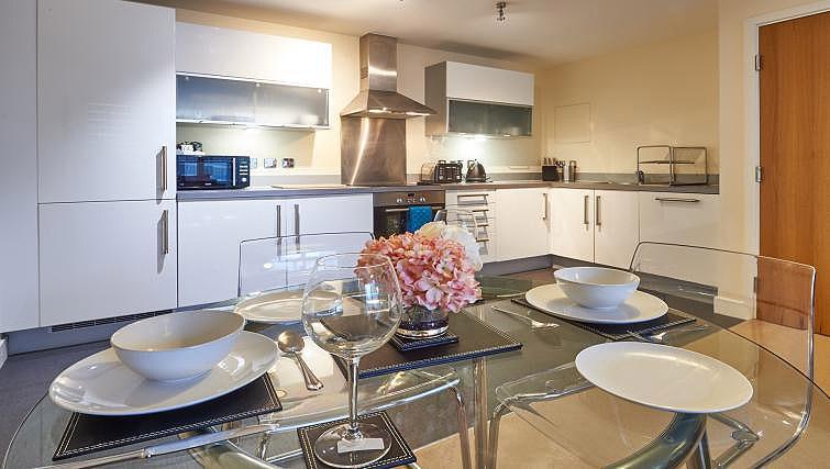 Dining area/kitchen at Vizion Milton Keynes Apartments - Citybase Apartments