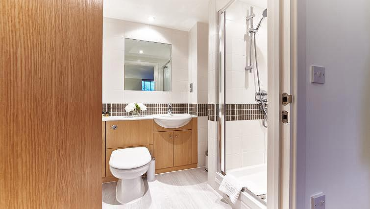 Shower room at Vizion Milton Keynes Apartments - Citybase Apartments
