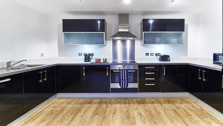Fully equipped kitchen at Vizion Milton Keynes Apartments - Citybase Apartments