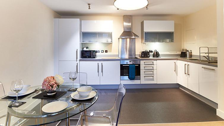 Kitchen/dining area at Vizion Milton Keynes Apartments - Citybase Apartments