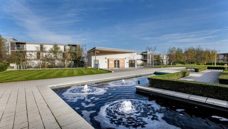 Communal gardens at Vizion Milton Keynes Apartments - Citybase Apartments