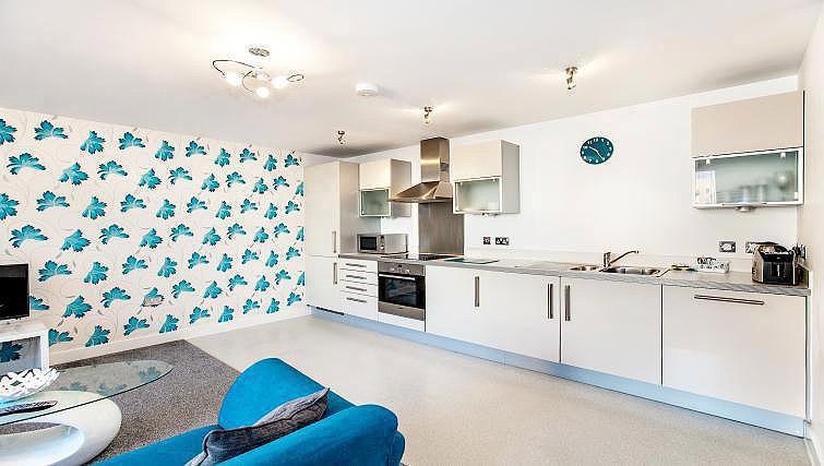 Kitchen at Vizion Milton Keynes Apartments - Citybase Apartments