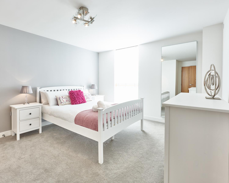 Bright bedroom at Vizion Milton Keynes Apartments, Centre, Milton Keynes - Citybase Apartments