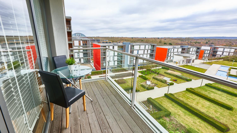 Balcony view from Vizion Milton Keynes Apartments, Centre, Milton Keynes - Citybase Apartments