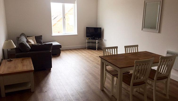 Living area at Kings Apartment - Citybase Apartments