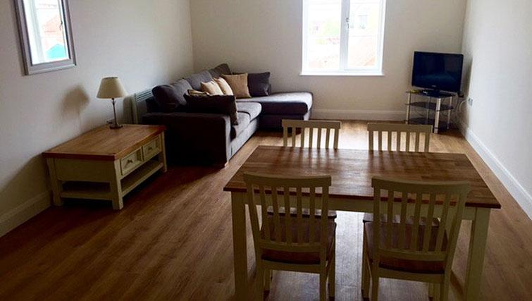 Open plan living area at Kings Apartment - Citybase Apartments