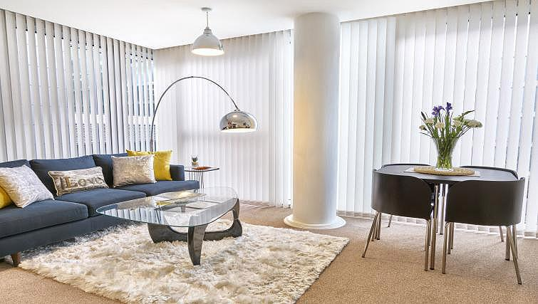 Living space at The Hub Milton Keynes Apartments - Citybase Apartments