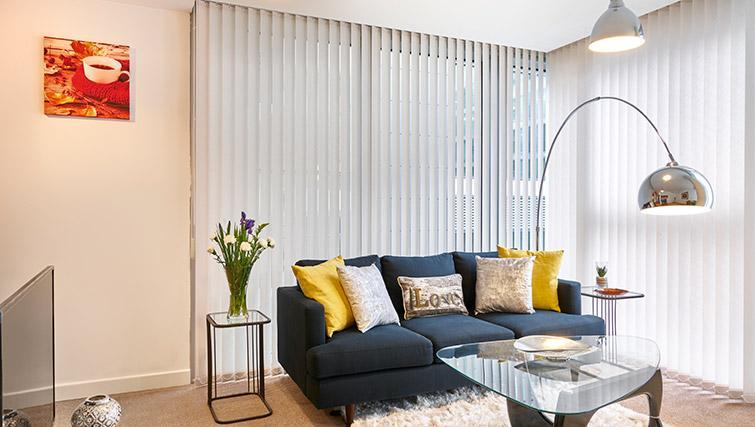 Stylish living area at The Hub Milton Keynes Apartments - Citybase Apartments