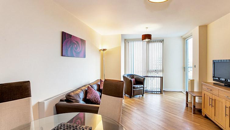 Modern living area at The Hub Milton Keynes Apartments - Citybase Apartments
