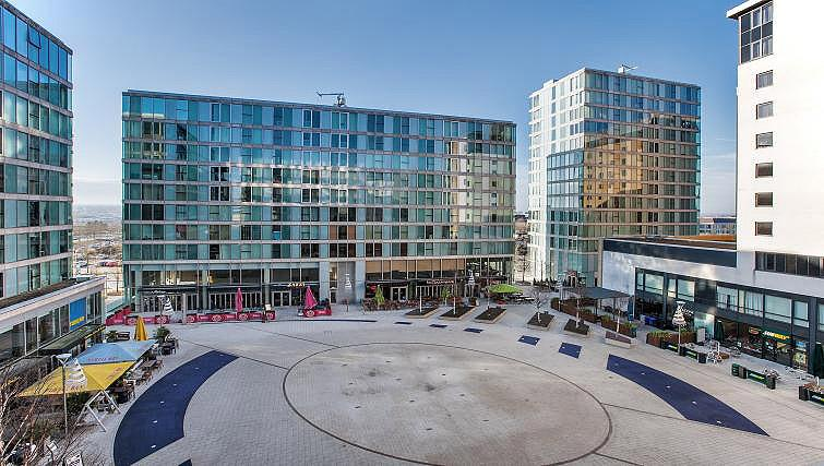 Outside of The Hub Milton Keynes Apartments - Citybase Apartments