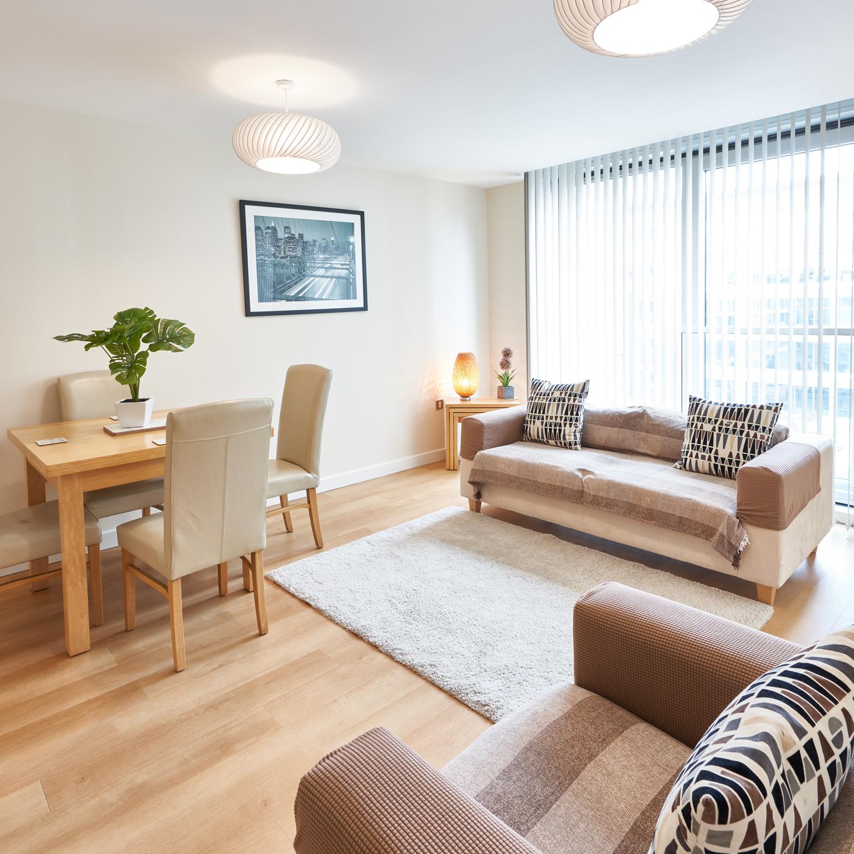 Open-plan at The Hub Milton Keynes Apartments, Centre, Milton Keynes - Citybase Apartments