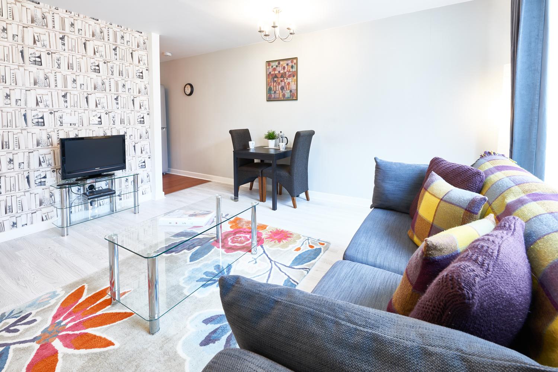Bright living area at The Hub Milton Keynes Apartments, Centre, Milton Keynes - Citybase Apartments