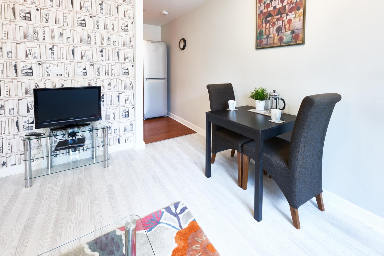 Living/dining area at The Hub Milton Keynes Apartments, Centre, Milton Keynes - Citybase Apartments