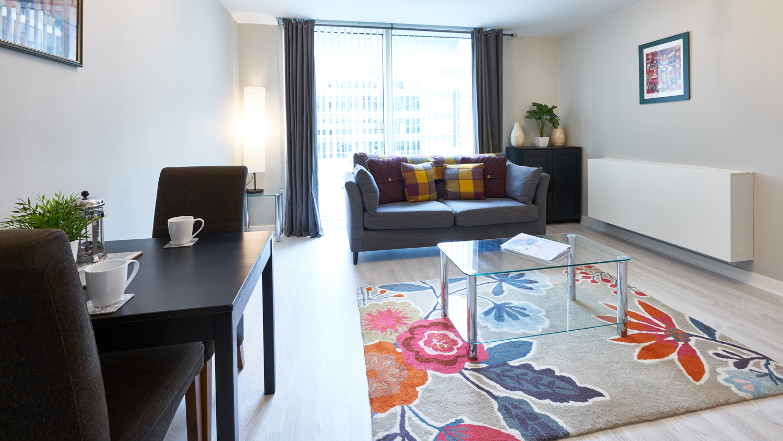 Leather furniture at The Hub Milton Keynes Apartments, Centre, Milton Keynes - Citybase Apartments