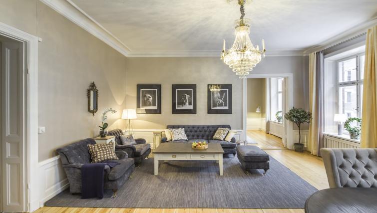 Stylish living area at Krona Apartments - Citybase Apartments