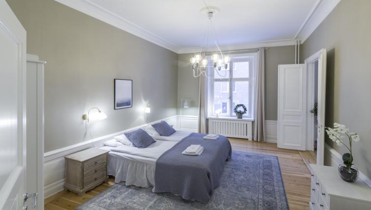 Cosy bedroom at Krona Apartments - Citybase Apartments