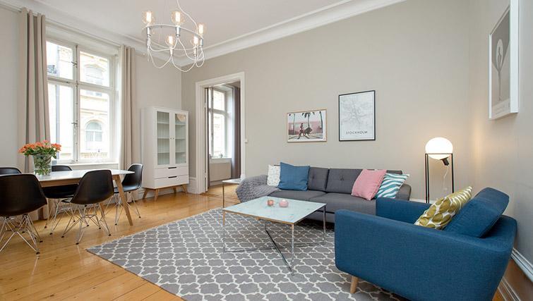Living room at Krona Apartment - Citybase Apartments