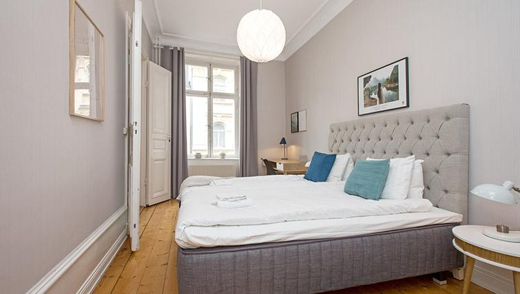 Double bed at Krona Apartment - Citybase Apartments