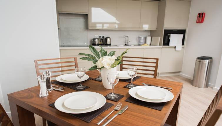 Dining table at Nelson Court Apartments - Citybase Apartments