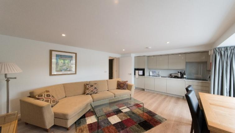 Modern living area at Nelson Court Apartments - Citybase Apartments