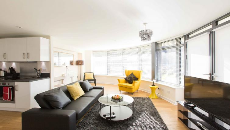 Living area at The Apex Apartment - Citybase Apartments
