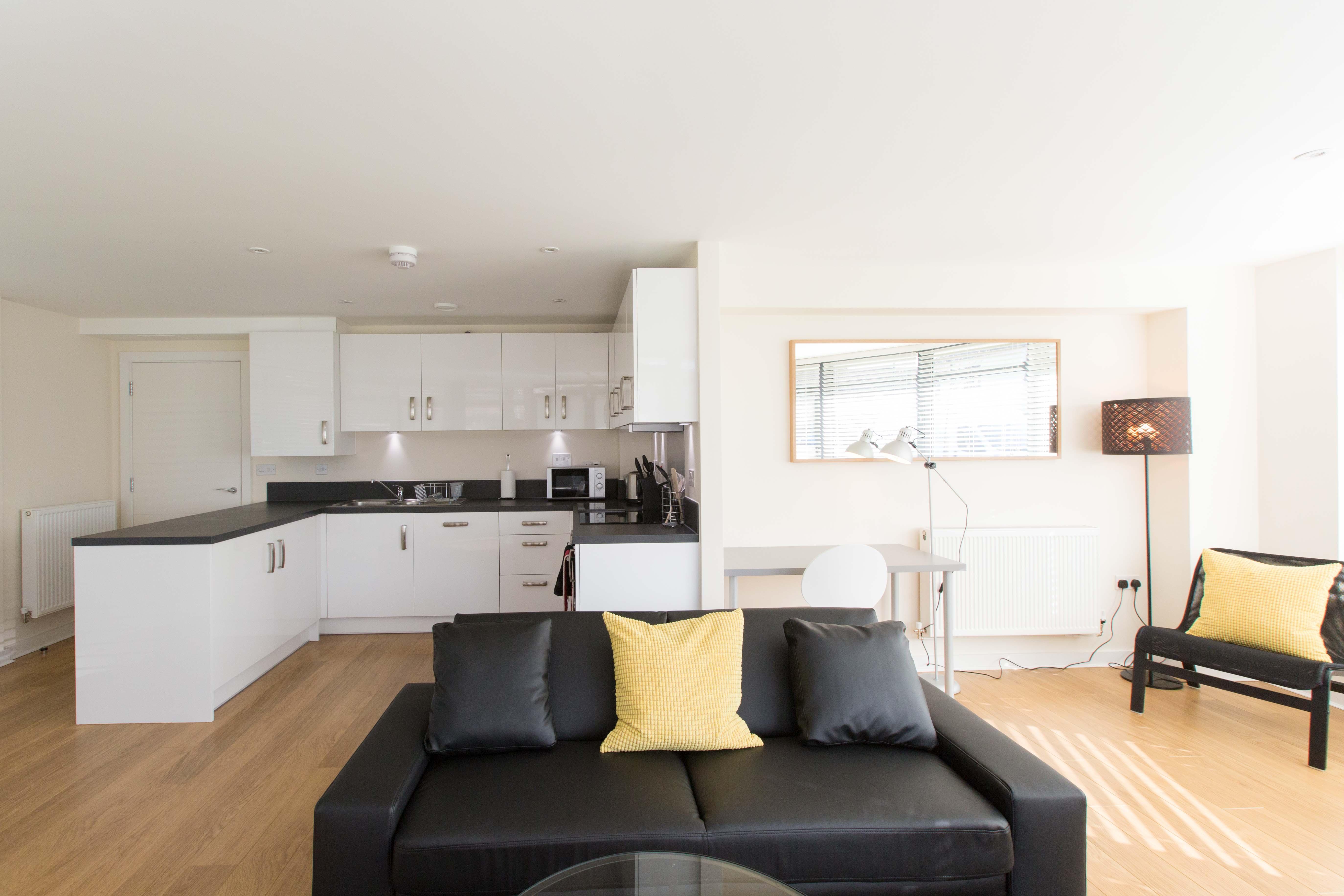 Sofa at The Apex Apartment - Citybase Apartments