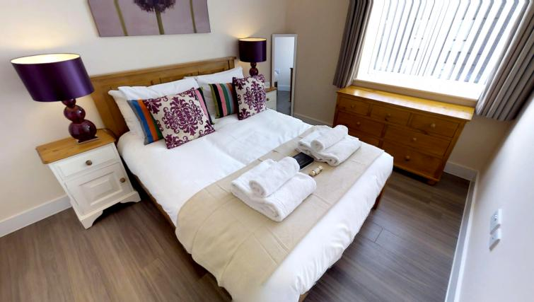 Double bed at Ceres Apartments - Citybase Apartments
