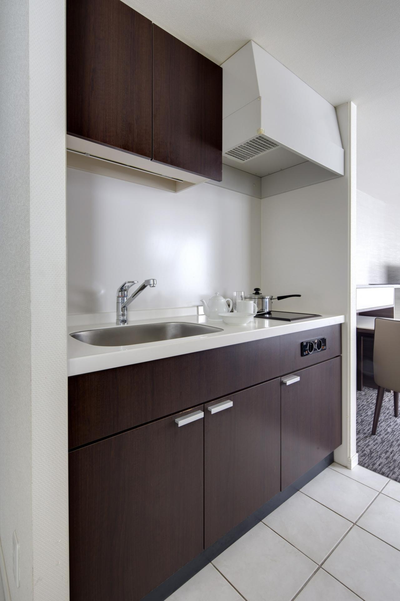 Kitchen at Somerset Ginza East Apartments - Citybase Apartments