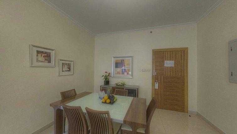 Dining area at Al Barsha Aparthotel - Citybase Apartments