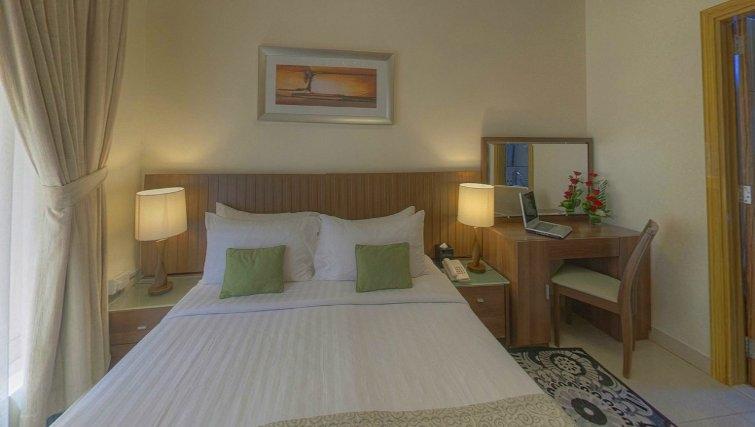 Cosy bedroom at Al Barsha Aparthotel - Citybase Apartments