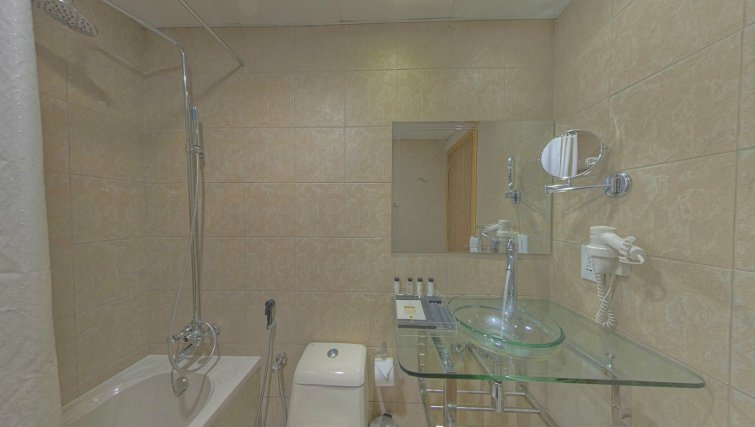 bathroom at Al Barsha Aparthotel - Citybase Apartments