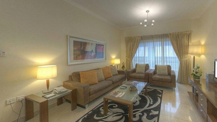 Living area  at Al Barsha Aparthotel - Citybase Apartments