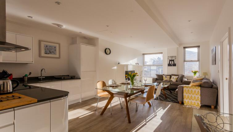 Open plan dining space at Bury Fields House Apartments - Citybase Apartments