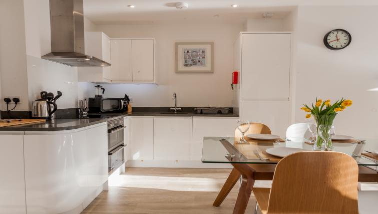 Modern kitchen at Bury Fields House Apartments - Citybase Apartments