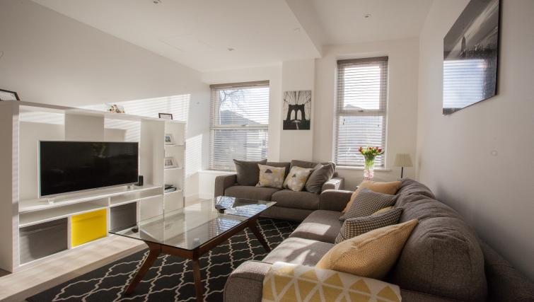 Bright living area at Bury Fields House Apartments - Citybase Apartments